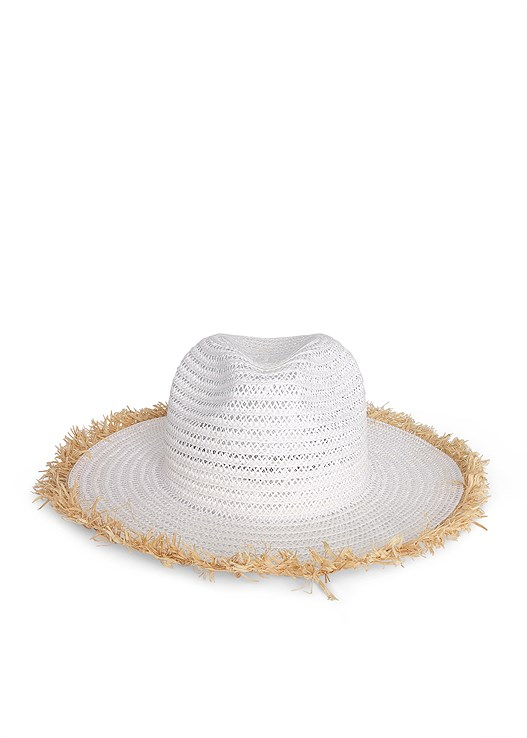 COLOR BLOCK STRAW HAT,EASY HALTER TOP,FRINGE EARRINGS