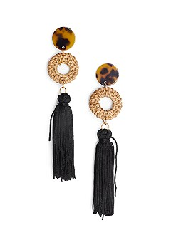 fringe raffia earrings