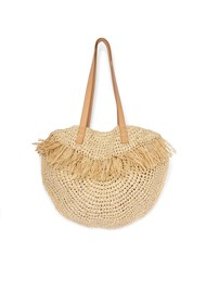 Flatshot front view Straw Bag