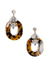 Flatshot  view Embellished Resin Earrings