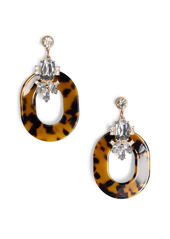 Embellished Resin Earrings,Tortoise Ring Dress