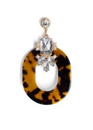 Detail  view Embellished Resin Earrings