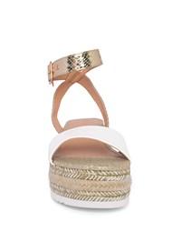 Shoe series front view Metallic Platform Wedges