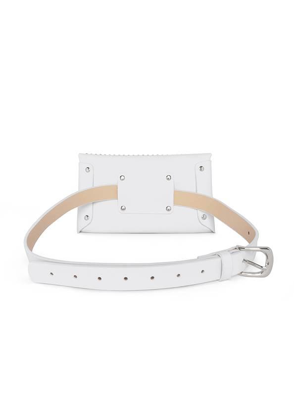 Flatshot back view Studded Belt Bag