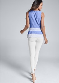 Detail back view Eyelet Sleeveless Top