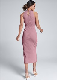 Alternate View Ribbed Front Slit Dress