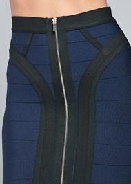 Alternate View Bandage Color Block Skirt