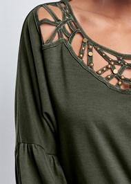 Alternate View Strappy Detail Sweatshirt