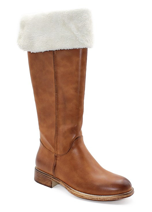 FAUX SHEARLING DETAIL BOOT