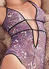 Alternate View Deep Plunge Bodysuit