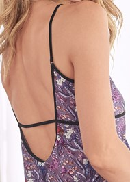 Detail back view Sheer Strappy Babydoll