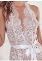 Detail front view Lace Bodysuit With Bow