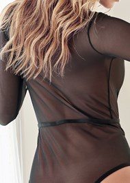 Detail back view Stretch Longsleeve Bodysuit