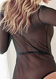 Detail back view Stretch Longsleeve Bodysuit