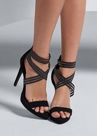 Front View Shadow Stripe Heels