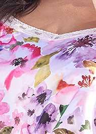 Alternate View Lace Trim Sleep Romper
