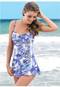 Cropped front view Slimming Skirted One-Piece