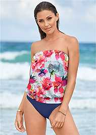 Full front view Blouson Bandeau Tankini Top