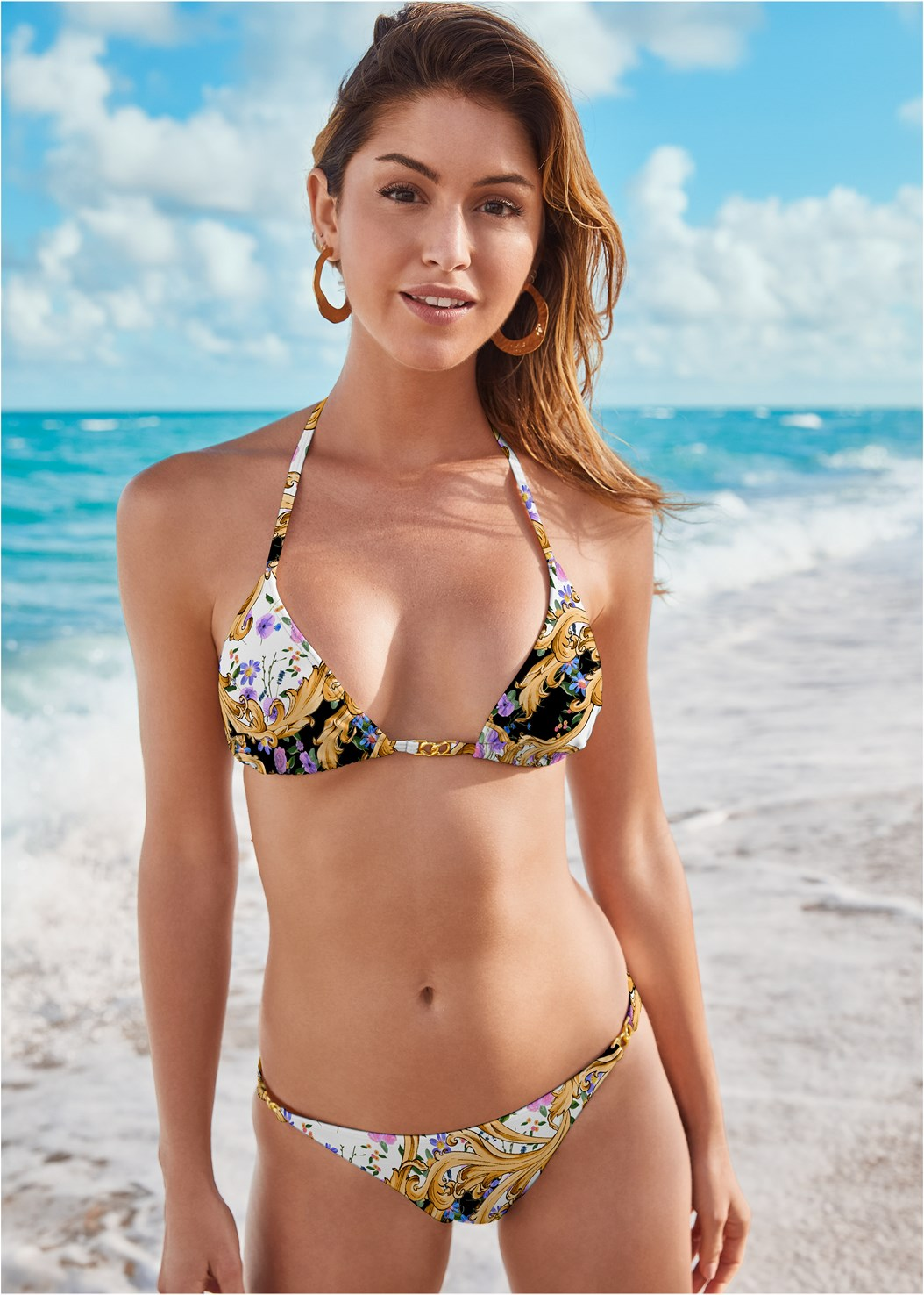 East Coast Bottom,Lagoon Push Up Top,Marilyn Underwire Push Up Halter Top,Circular Straw Bag