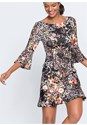 Alternate View Mixed Print Dress