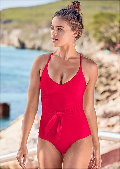 Slimming Tie One-Piece
