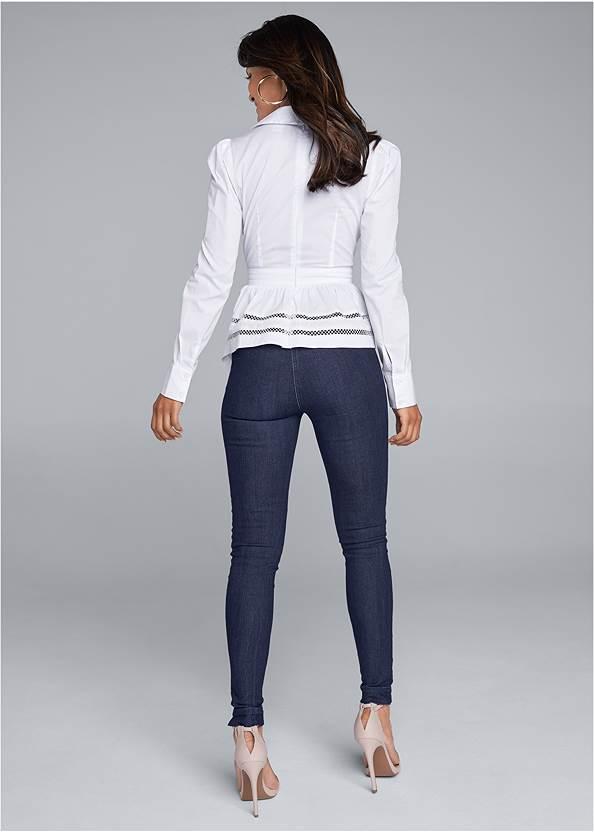Full back view Asymmetrical Blouse