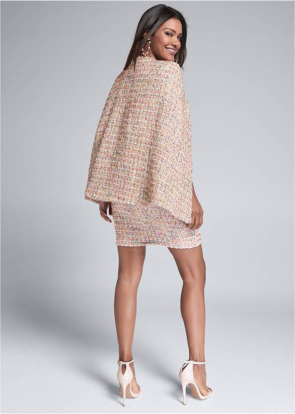 Full back view Tweed Skirt Suiting Set