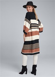 Full back view Striped Chenille Duster
