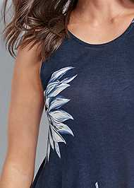 Alternate View Open Back Floral Top