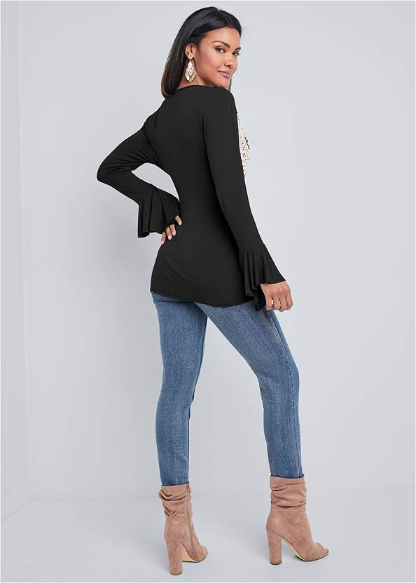 Back View Lace Detail Top