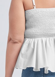 Alternate View Ruched Asymmetrical Top
