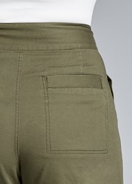 Back View High Waisted Cargo Pants