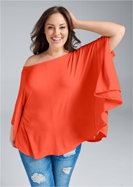 Cropped Front View Asymmetrical Top