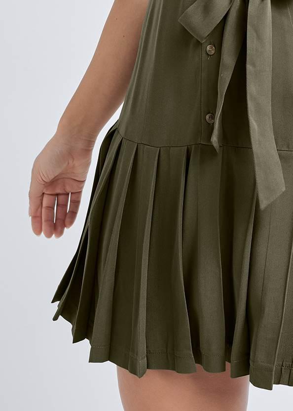 Alternate View Pleated Shirt Dress