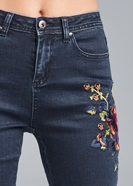 Detail front view Floral Skinny Jeans