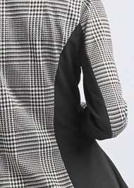 Detail back view High Low Houndstooth Blazer