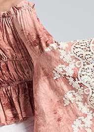 Detail back view Off Shoulder Tie Dye Top