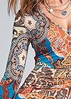Detail front view Printed Handkerchief Dress