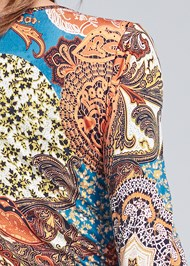 Detail back view Printed Handkerchief Dress