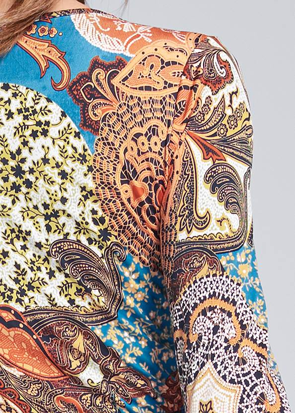 Detail back view Printed Handkerchief Dress