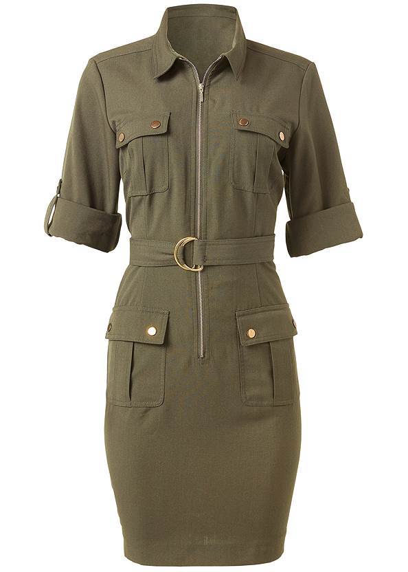 Ghost with background  view Pocket Detail Utility Dress