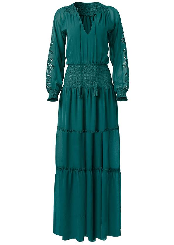 Alternate View Eyelet Sleeve Detail Dress