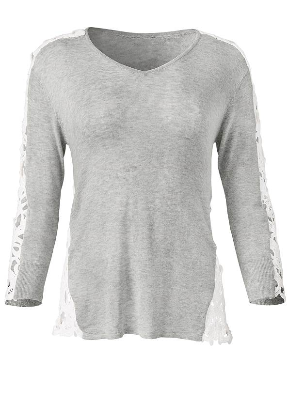 Ghost with background  view Lace Sleeve Top