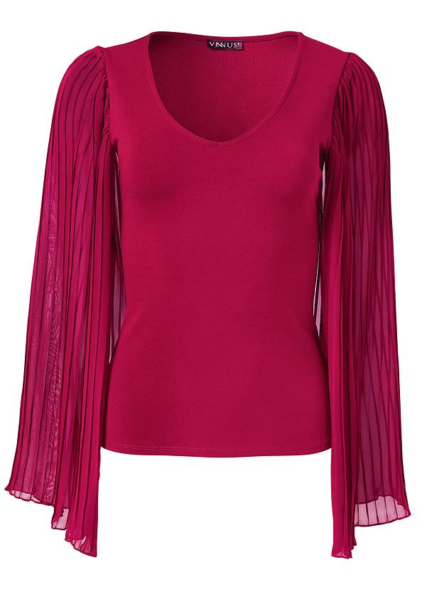 Ghost with background  view Pleated Sleeve Top