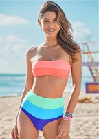 color block strappy bandeau