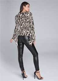 Full back view Animal Print Top