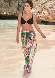 Front View Wild Tropic Cover-Up Pant