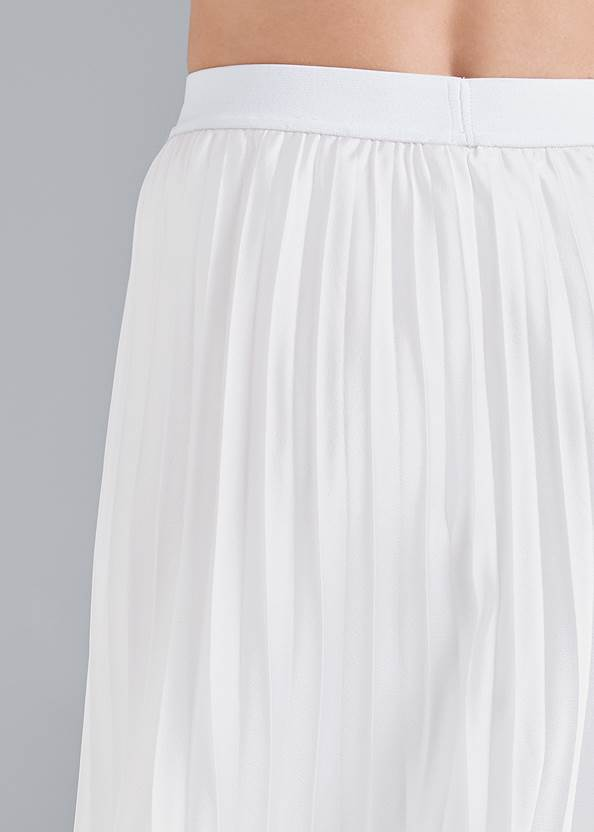 Detail back view Pleated Midi Skirt