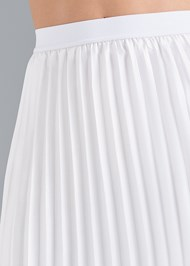 Detail front view Pleated Midi Skirt
