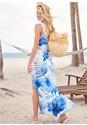 Back View Cinch Waist Cover-Up Dress